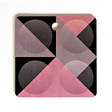 Deny Designs Spires Glass Grid Square Cutting Board