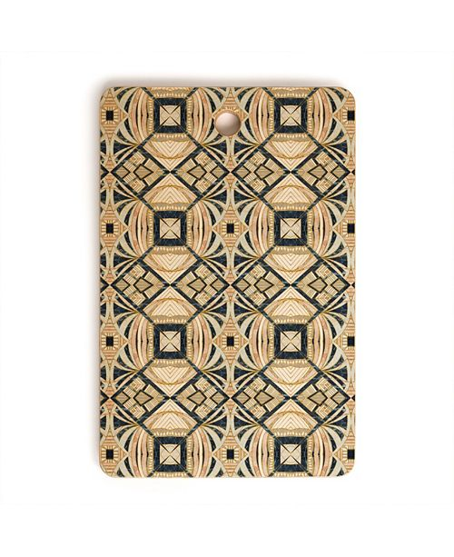 Deny Designs Camarasa Mosaic Marbled Art Deco II Rectangle Cutting Board