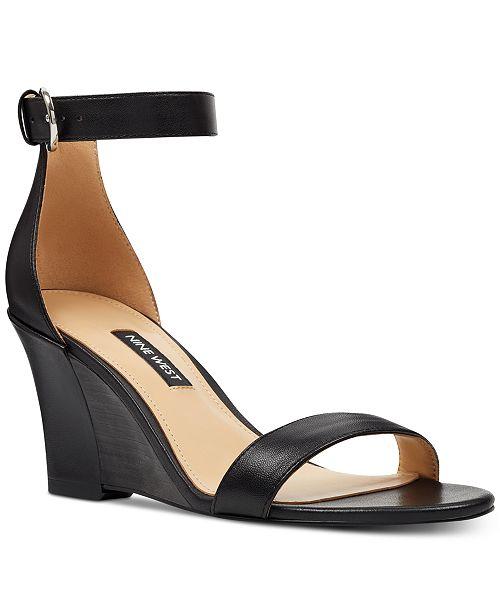 on feet shots of great discount sale great look Nine West Sloane Wedge Sandals & Reviews - Sandals & Flip ...