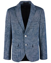 2a638e1dc Lauren Ralph Lauren Big Boys Denim Blue Palm-Print Sport Coat