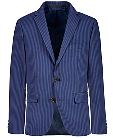 Big Boys Stretch Navy Stripe Suit Jacket