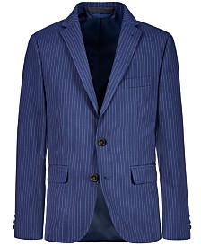 Lauren Ralph Lauren Big Boys Stretch Navy Stripe Suit Jacket