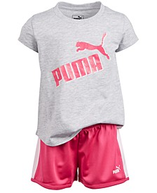 Little Girls 2-Pc. Logo T-Shirt & Shorts Set