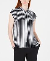 8bbea2e985495c Bar III Striped Tie-Neck Top, Created for Macy's