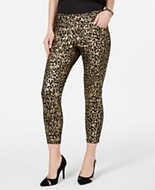Thalia Sodi Foil-Print Skinny Jeans, Created for Macy's