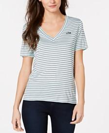 Lacoste V-Neck Striped T-Shirt