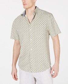 Tommy Bahama Men's Pacific Classic Fit Geometric Silk Camp Shirt