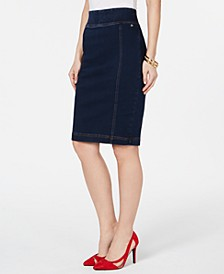 Denim Pencil Skirt, Created for Macy's