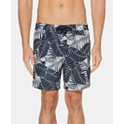 "Perry Ellis Men's 7"" Tree-Print Swim Trunks"