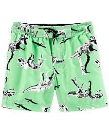 Carter's Toddler Boys Dinosaur-Print Swim Trunks
