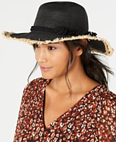 ee3cea9c92f3c5 I.N.C. Twisted Straw & Rope Detail Floppy Hat, Created for Macy's