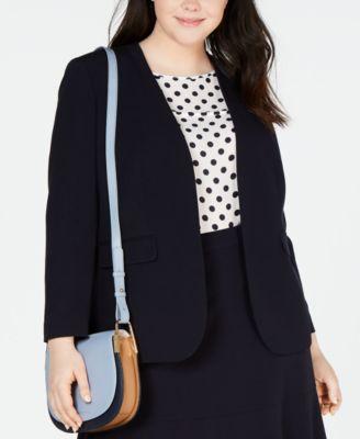 Plus Size Bi-Stretch Jacket, Created for Macy's
