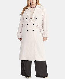 RACHEL Rachel Roy Plus Size Belted Trench Coat
