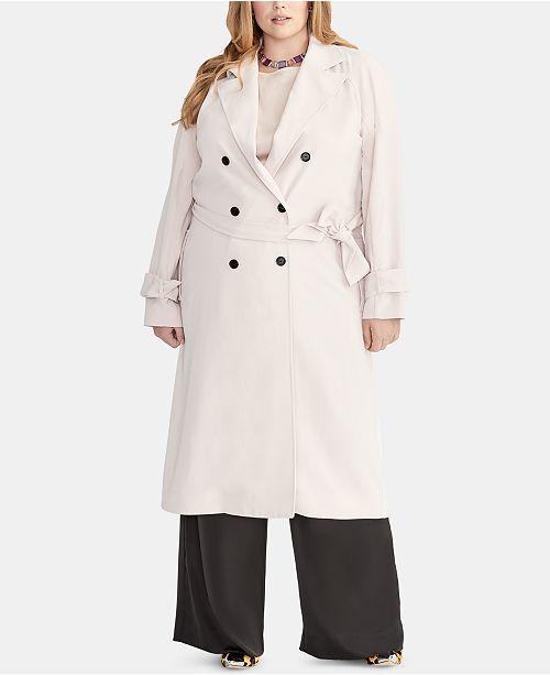 RACHEL Rachel Roy Plus Size Belted Trench Coat