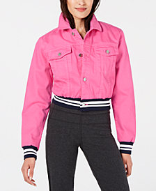 Juicy Couture Denim Varsity Jacket