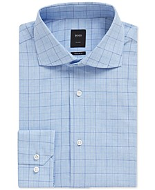 BOSS Men's Regular/Classic Fit Checked Shirt