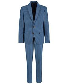 Lauren Ralph Lauren Big Boys Stretch Light Blue Stripe Suit Separates