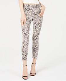 Tinseltown Juniors' Leopard-Print Skinny Jeans