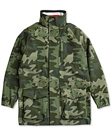 Men's  Camo Jacket with Magnetic Closure