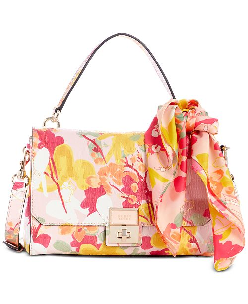 GUESS Shannon Floral Shoulder Bag
