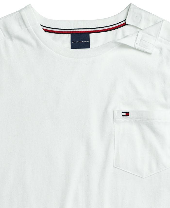 Tommy Hilfiger Men's T-Shirt with Magnetic Shoulder Closure & Reviews - T-Shirts - Men - Macy's
