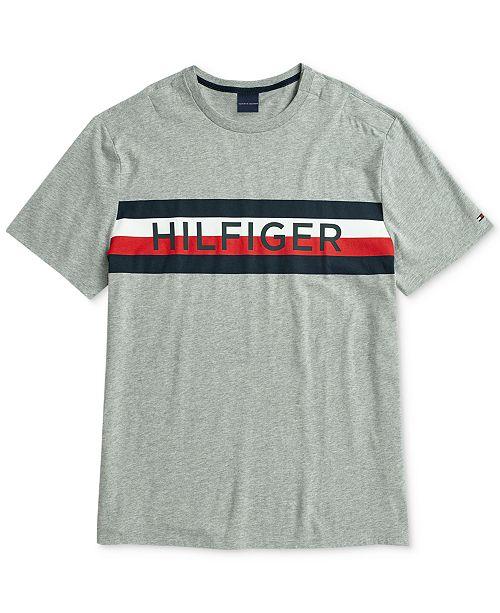 ef77f00b ... Tommy Hilfiger Men's Logo Graphic T-Shirt with Magnetic Closures at  Shoulder ...
