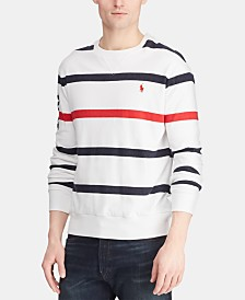 Polo Ralph Lauren Men's Striped Terry  Americana  Crewneck Pullover