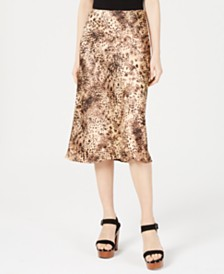 Cotton Candy Leopard-Print Midi Skirt