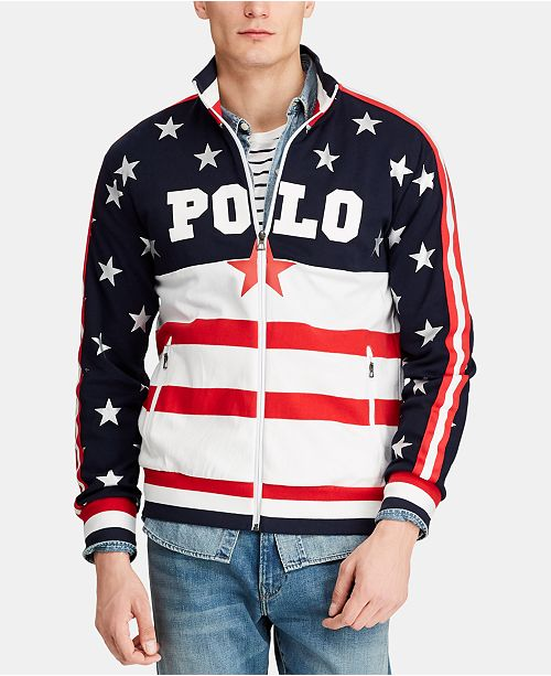 Polo Ralph Lauren Men's Americana Track Jacket, Created for Macy's