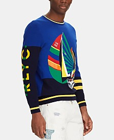 Polo Ralph Lauren Men's Sailboat-Print Sweater
