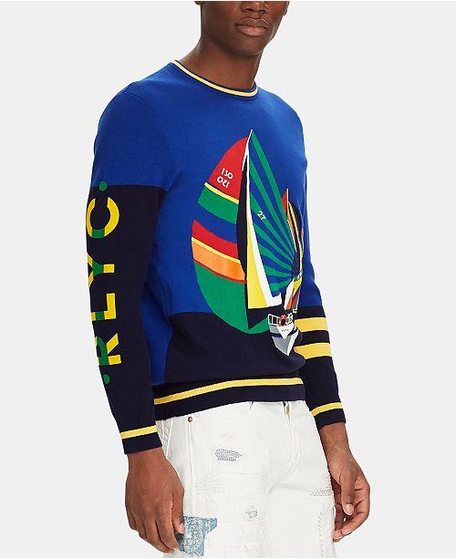 Polo Ralph Lauren Men's Sailboat-Print Sweater