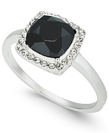 Charter Club Pavé & Crystal Stone Square Halo Ring, Created for Macy's