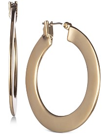 "DKNY Flat Small 1"" Hoop Earrings, Created for Macy's"
