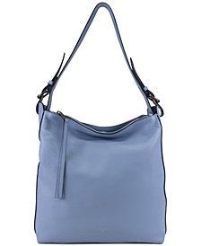 T Tahari Kerry Leather Bucket Bag