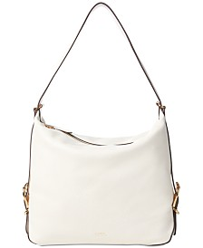 Lauren Ralph Lauren Cornwall Pebbled Leather Slouch Hobo