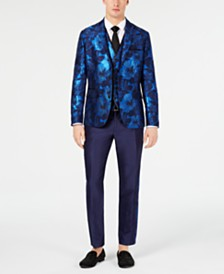 I.N.C. Men's Slim-Fit Floral Jacquard Blazer, Created for Macy's