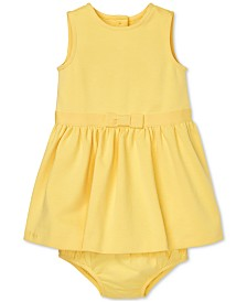 Polo Ralph Lauren Baby Girls Ponté-Knit Dress