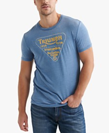 Lucky Brand Men's Triumph Twin Carb Graphic T-Shirt