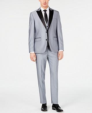 Ryan Seacrest Distinction Mens Slim-Fit Stretch Tuxedo Jacket