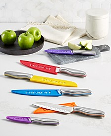 Stainless Steel Color Band 12-Pc. Cutlery Set