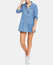 Free People Nicole Cotton Denim Shirtdress