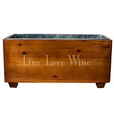 Live Laugh Wine Wooden Wine Trough