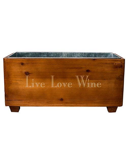 Cathy's Concepts Live Laugh Wine Wooden Wine Trough
