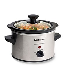 Elite Cuisine 1.5 Quart Mini Slow Cooker in Stainless Steel