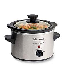 Elite Cuisine 1.5 Quart Mini Slow Cooker in Stainless Steel