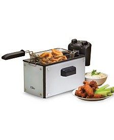 Elite Platinum Glass 3.5 Quart Immersion Deep Fryer with Timer