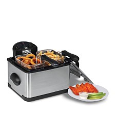 Elite Platinum 4 Quart Dual Deep Fryer with 3 baskets