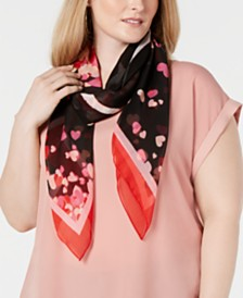 "I.N.C. Heart Confetti ""Love"" Square Scarf, Created for Macy's"