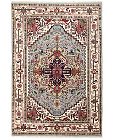 "BB Rugs Indo Herez 609505 Light Blue 5'10"" x 9'1"" Area Rug"
