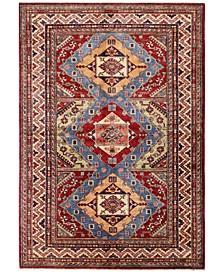 """Fine Kazak 610744 Multicolor 4'9"""" x 7'1"""" Area Rug"""